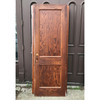 "D18063 - Antique Oak Traditional Two Flat Panel Interior Door 28"" x 79-1/2"""