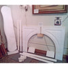 M18005 - Antique Rococo Revival Marble Half Mantel with Arched Opening
