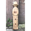 S18016 - Antique Late Victorian Carved Sycamore Engaged 1/2 Newel Post