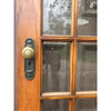 """D18076 - Antique Oak and Beveled Glass Interior French Door 32"""" x 78-3/4"""""""