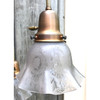 L18084 - Antique Three Light Ceiling Fixture with Cameo Shades