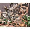 S18065 - Pair of Antique Victorian Era Cast Iron Flower and Vine Brackets