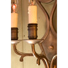 L18144 - Pair of Antique Cast Brass Three Arm Candle Sconces
