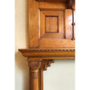 M18022 - Antique Victorian Butternut Fireplace Full Mantel