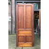 "D18182 - Antique Victorian Butternut Traditional Five Panel Interior Door 39-1/2"" x 94-3/4"""
