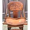 F19011 - Antique Quartersawn Oak Late Victorian Adjustable Rocking High Chair