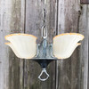 L19020 - Antique Art Deco Five Light Slipper Shade Hanging Fixture
