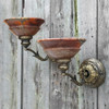 L19024 - Pair of Antique Sconces With Alabaster Shades