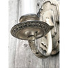 L19038 - Antique Silver Plated Candle Sconce