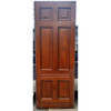 "D19030 - Antique Victorian Six Panel Cherry Door 35-7/8"" x 96"""