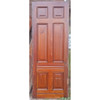 "D19041 - Antique Victorian Six Panel Cherry Door 35-7/8"" x 96"""