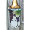 L19105 - Custom Brass Pendant Fixture With Antique Hand-painted Shades