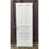 "D19077 - Antique Painted Pine Five Traditional Panel Interior Door 29-3/4"" x 79-1/2"""