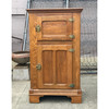F19057 - Antique Colonial Revival Ash Two-Door Ice Box