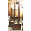 S19015 - Pair of Antique Colonial Revival Oak Column Room Dividers