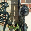F19086 - Pair of Vintage Garden Bench Ends