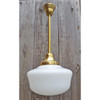 L19176 - Antique Revival Period Schoolhouse Hanging Fixture