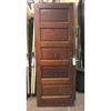 """D19126 - Antique Painted and Varnished Pine Five Horizontal Panel Interior Door 30"""" x 79-1/4"""""""