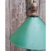 L19194 - Antique Revival Period Single Pendant with Industrial Green Painted Shade