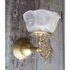 L20004 - Vintage Reproduction Gas Sconce With Shade