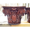 A20016 - Pair of Antique Hand Carved Rosewood Capitals