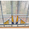 G20019 - Antique Prairie Style Stained & Textured Glass Window