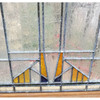 G20021 - Antique Prairie Style Stained & Textured Glass Window