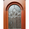 "D20013 - Vintage Exterior Door With Leaded Glass 32"" x  80"""