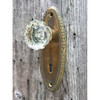 H20035 - Antique Knob and Backplate Set