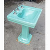 P20005 - Antique Sea Green Revival Period Toilet and Sink Set