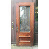 "D20112 - Antique Oak Exterior Door with Glass 34"" x 84"""