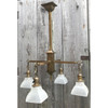 L20169 - Antique Arts and Crafts Four Arm Hanging Fixture