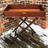 F21030 - Antique Dovetailed Serving Tray on Folding Stand