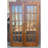 D21036 - Pair of Oak Fifteen Light French Doors