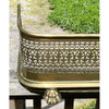 M21006 - Antique Reticulated Brass Fender with Paw Feet
