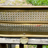 M21007 - Antique Reticulated Brass Fender with Paw Feet
