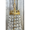 L21122 - Vintage Crystal & Brass  Empire Style Fixture