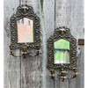 A21092 - Pair of Antique Bradley and Hubbard Mirror Candle Sconces