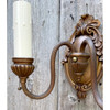 L21186 - Pair of Brass Plated Neoclassic Colonial Revival Wall Sconces