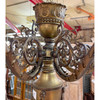 L21192 - Antique Seven Arm Brass Fixture - Currently Unrestored