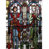 G11005 - Antique Karl J. Mueller Painted and Fired Stained Glass Window