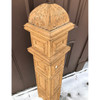 907717 - Salvaged Antique Late Victorian Oak Newel Post