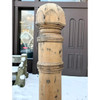 907718 - Salvaged Antique Late Victorian White Oak Newel Post