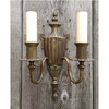 608834 - Antique Neoclassical Double Candle Arm Wall Sconce