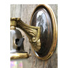 608913 - Antique Neoclassical Wall Sconce with Etched and Iridescent Shade