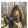 608920 - Pair of Antique Neoclassical Wall Sconces with Molded Custard Shades