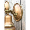609498 - Pair of Antique Colonial Revival Wall Sconces with Etched Glass Shades