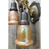 609544 - Pair of Antique Neoclassical Wall Sconces with Etched Shades