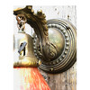609874 - Pair of Antique Wall Sconces with Loetz Shades