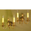 610316 - Pair of Vintage French Double Candle Arm Wall Sconces